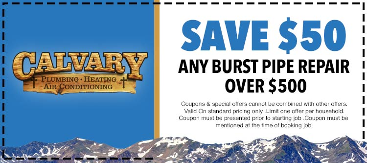 discount on burst pipe repair services