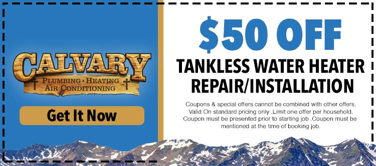 discount on tankless water heater installatio and repair services