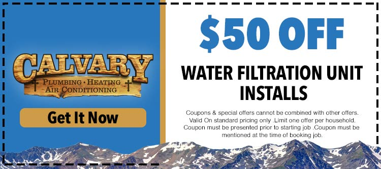 discount on filter unit installation