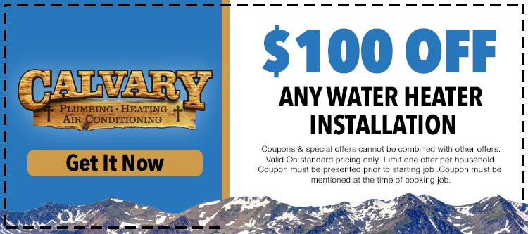 discount on any water heater installation service
